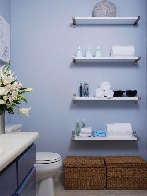 Decoração Utilize Prateleiras e Economize Espaço!!  Blog Mix Lar -> Banheiro Pequeno E Organizado