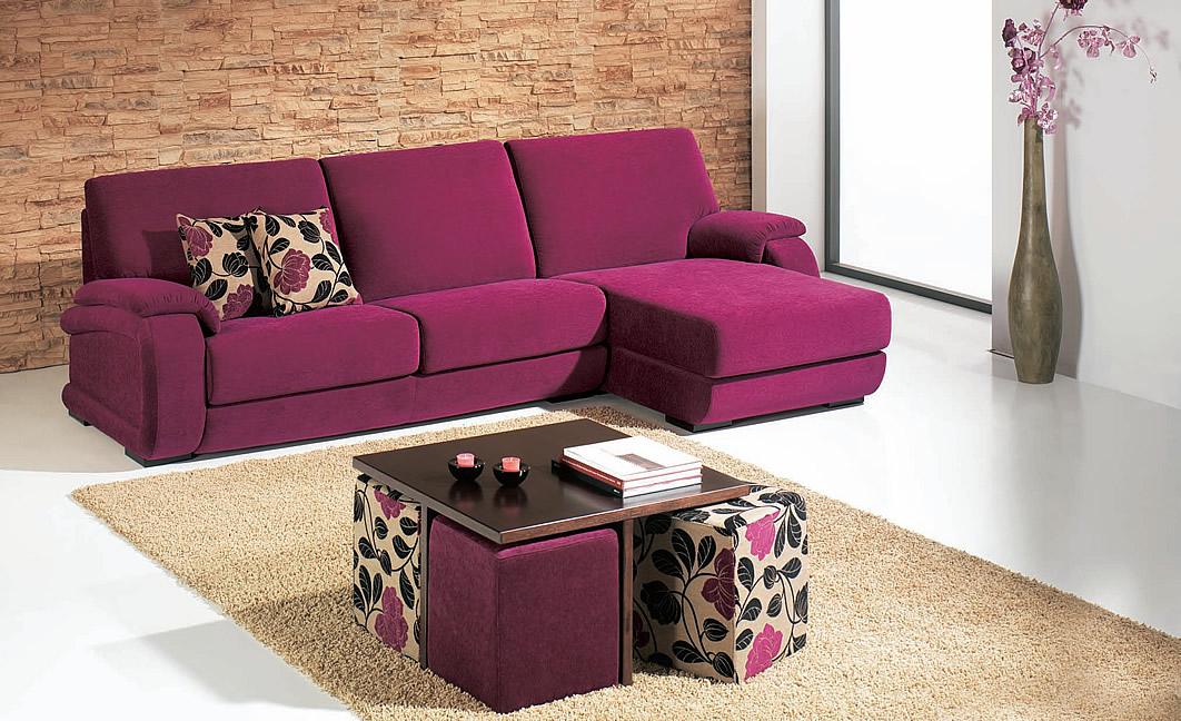 Cuide bem do seu sof blog mix lar for Sofas com chaise e puff