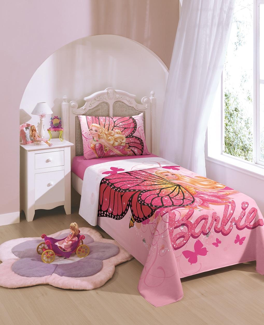 19744b17f4 Outubro é o mês das Crianças  dica de presente para as meninas!! Por  Mix  Lar. Cod. 2895 -JG de Cama Barbie Solteiro - Cor 5