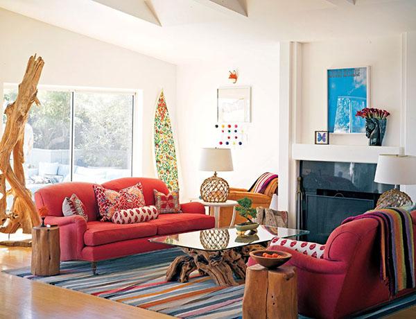 ... Bright Boho Chic Living Room Part 92