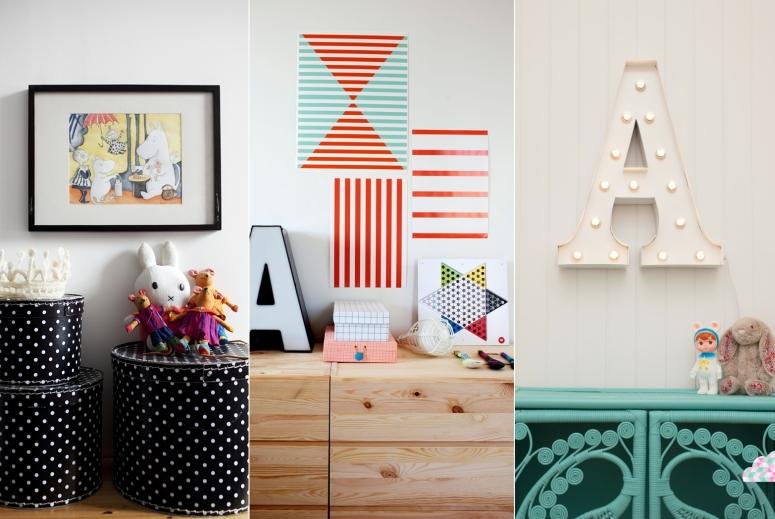 ideias simples para decoracao de interiores:Idéias Fofas e Divertidas para decorar o Quarto Infantil com Estilo