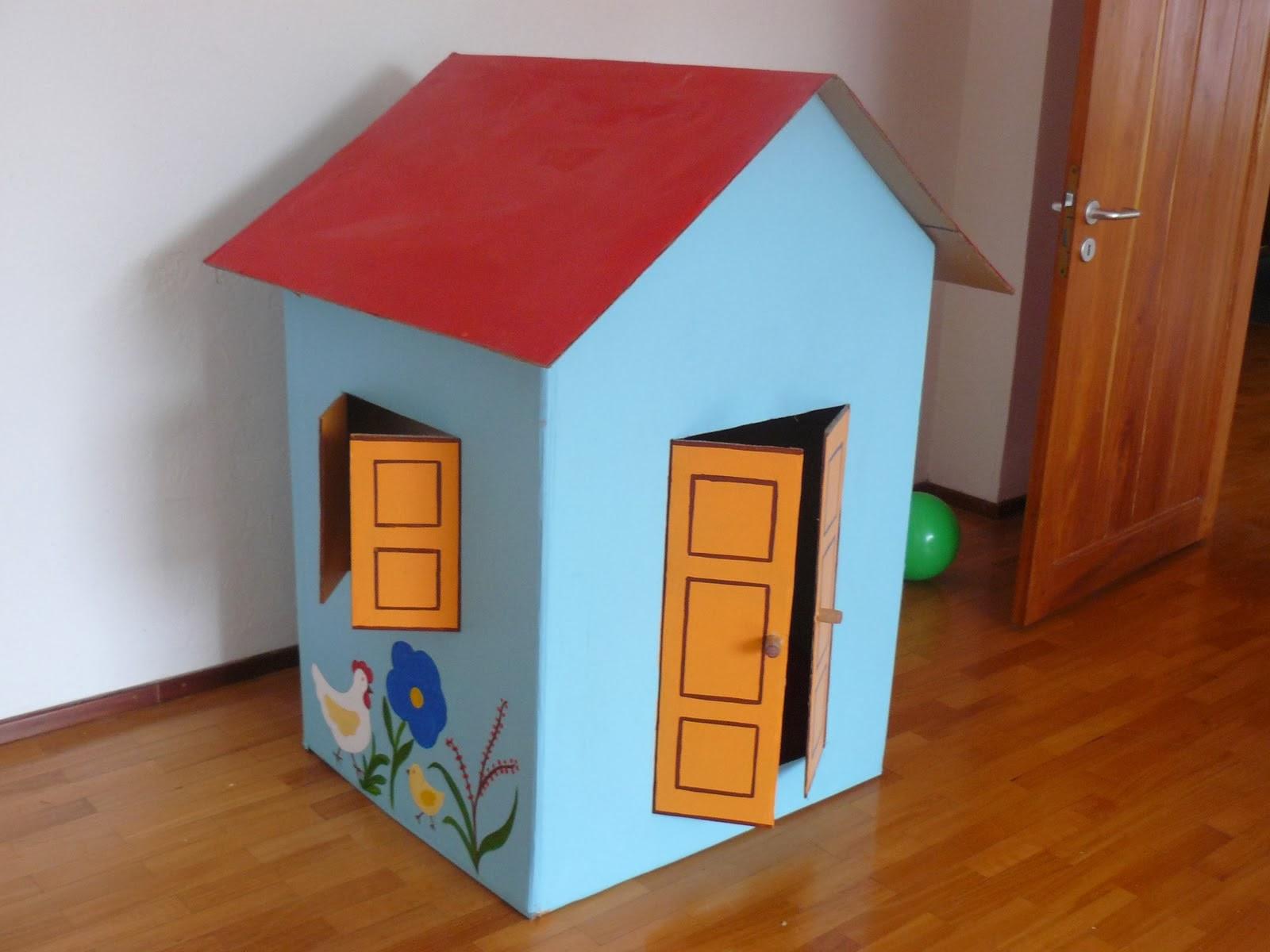 Ideias incr veis e inspiradoras para reutilizar papel es blog mix lar - Como hacer una casa de carton pequena ...
