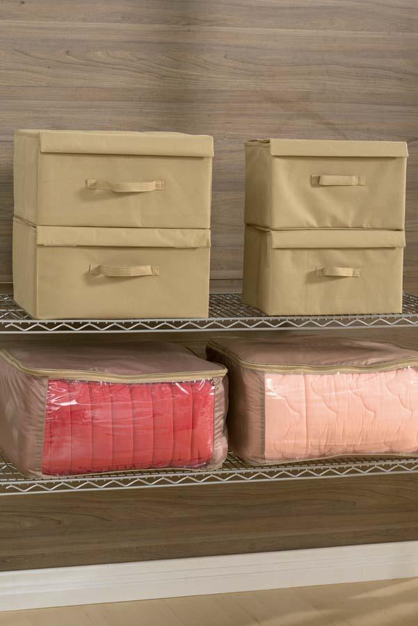 Cod. 4784 - 4785 - 4794 - Caixa Organizadora e Embalagem p_ Roupa de Cama - Cor 8