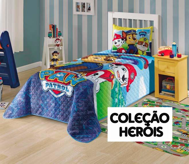 9c52d0f361 Linha Infantil Catálogo Mix Lar - Coleção Heróis